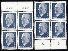 Briefmarken DDR MiNr 845 XyII 2x(OR3+UR3) W.Ulbricht **