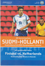 Programme / Programma Finland v Holland 08-06-2005 World Cup 2006 qualifier