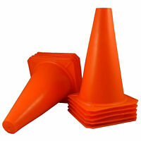 """Qty 10 BRAND NEW ~ US SELLER ~ ORANGE CONES 9"""" Tall Traffic Safety Training"""