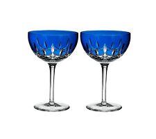 Waterford Crystal Lismore Pops Cobalt Cocktail Set of 2, bad box*