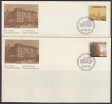 CANADA #851-852 35¢ ACADEMY OF ARTS FIRST DAY COVERS