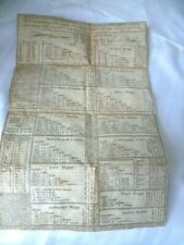 ANTIQUE  PRINTED  DOCUMENT - COLLECTION OF MOST USEFUL TABLES IN ARITHMETICK