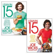 Joe Wicks Collection 2 Books Set Lean in 15 Sustain Plan Minute Meals BRAND NEW
