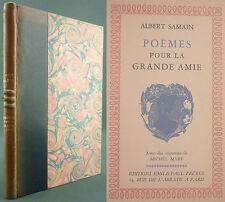 SAMAIN ALBERT - POEMES POUR LA GRANDE AMIE - 1943 N° 961/1230 Vélin rose