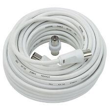 Cable Coaxial Tv + adaptateur MM   10 mètres  Mâle / Femelle Rallonge Antenne