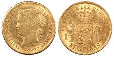 PHILIPPINES Isabel II 1868 Peso AU