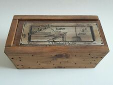 Blackwell's Butter Wooden Box Reproduction? Advertising Food Container Storage