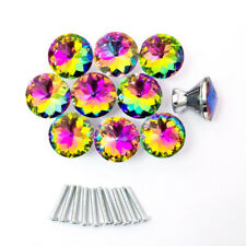 10/20pcs Crystal Glass Handles Diamond Door Drawer Cabinet Home Pull Knobs 30mm