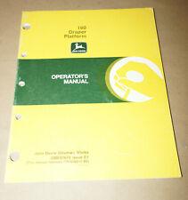 1991 John Deere Model 160 Draper Platform Operator's Manual P/N OME81678 E1