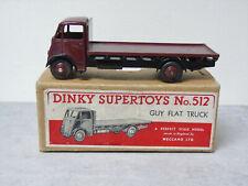 Dinky 512 Guy Flat Truck Rare Maroon Ist Type Near Mint Boxed Original 1947 - 48