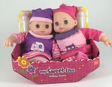 My sweet Love Happy Twins Baby  girl dolls Tan  bottles included