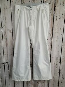 CS Women's Large The North Face White Snowboard Ski Snow Pants in White STAINED