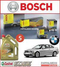 KIT TAGLIANDO 4 FILTRI BOSCH + 5 LT OLIO CASTROL  BMW SERIE 3 E46 320 D 136 CV