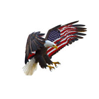 Bald Eagle USA American Flag Sticker Car Truck Laptop Body Window Bumper Decal