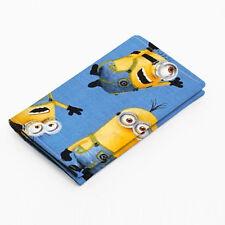 Minion Wallet Small Card Case Fabric Despicable Me Handmade - yellow Minion blue