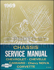 Best Shop Manual 1969 Camaro Corvette Chevelle Malibu El Camino Chevy Repair