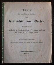 Chronik Geschichte von Giesen Hessen 1865 Ortskunde Landeskunde top rara AA