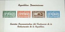 DOMINICAN DOMINIKANISCHE REP 1963 Block 3 586a Cent. of Restoration Presidents**