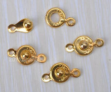 35Sets gold plated Button Snap Fastener Connectors Jewelry Findings ZH715