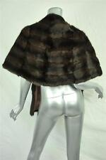 J. MENDEL Brown GENUINE RUSSIAN SQUIRREL FUR *Runway* Stole Wrap Capelet XS NEW