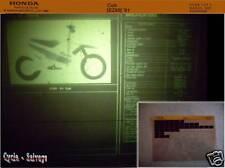 HONDA cub_ez90 _' 91 _ RICAMBIO _ cataloghi parti _ _ Microfich