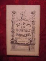 HARPER's September 1875 JAMES PARTON ENGLISH CARICATURE PORTE CRAYON T B Aldrich