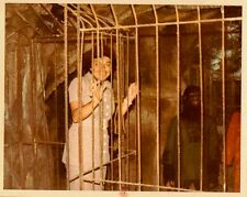 Old Vintage Photograph Ape Man In A Cage Monkey Planet of the Apes