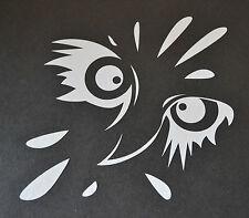 BIRD OF PREY CARTOON OWL EAGLE HARRIS HAWK OSPREY HUNTING FALCONRY STICKER DECAL