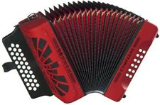 Hohner COGR-N Compadre Accordion in Keys of GCF, Red with Gig Bag -Silver Grille
