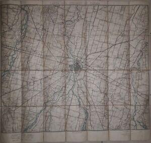 Carta topografica del Presidio di Parma Istituto Geografico Militare 1893