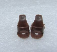 Vintage Barbie Doll Clothes Shoes Brown Open Toe with Holes #1 Ponytail Barbies