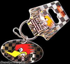 mr horsepower claysmith keychain holder badge clip key ring latch tag Chain tag