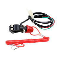 Motorcycle ATV Engine Stop Kill Switch Safety Tether Lanyard Pit Dirt Quad Bike