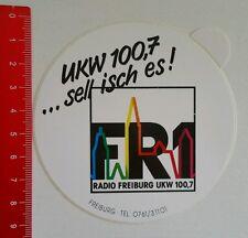 ADESIVI/Sticker: radio Friburgo VHF 100,7 (15081667)