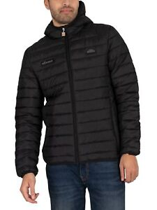 Ellesse Men's Exclusive Mono Lombardy Padded Jacket, Black