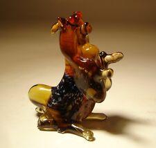 """Blown Glass """"Murano"""" Art Figurine Dog  YORKSHIRE Terrier Sitting"""