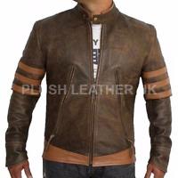 Mens X-Men Wolverine Origins Logan Biker/Bomber Real 100% Genuine Leather Jacket
