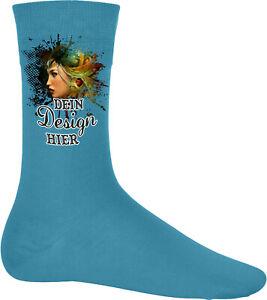 Socke aus feinem Ripp mit deinem Wunschmotiv