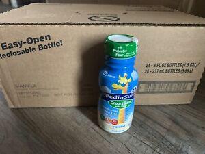 24 Bottles Pediasure Grow & Gain with Fiber Pediatric Oral Supplement Vanilla