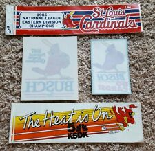Vintage St Louis Cardinals Anheuser Busch Beer Window Decal Bumper Sticker Lot 5