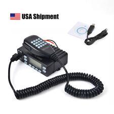 25W Transceiver Dual Band UHF/VHF Car Mobile 2-Way Ham Radio + Program Cable