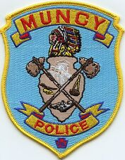 MUNCY PENNSYLVANIA PA indian POLICE PATCH