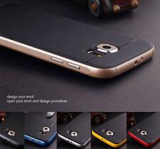 Híbrido Resistente Dura Parachoques Suave Caucho Piel Funda para Samsung Galaxy