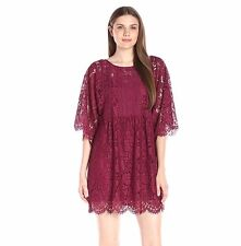 Anthropologie SzXS Plenty by Tracy Reese Cher Floral Lace Dress Fig