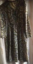 """Vintage Plus Sz 42 """" bust 1940s 50s Floral Paisley Tea Dress"""