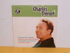 "SINGLE 7"" - CHARLES TRENET - LE PIANO DE LA PLAGE - EP"