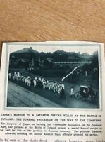 74-3 Ephemera Ww1 1916 Picture Japan Funeral Shimonura