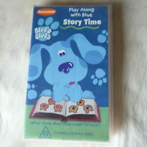 Nickelodeon BLUE'S CLUES Play Along with Blue Storytime 2000 VHS ABC KIDS Dog