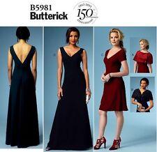 BUTTERICK B5981 Evening Gown Red Carpet Dress Shrug Capelet Sew Pattern Sz 14-22