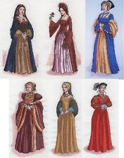 The Six Wives of Henry VIII Cross Stitch Chart Pack by Vanessa Wells